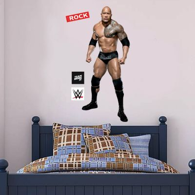 WWE - The Rock Wrestler Decal 1 + Bonus Wall Sticker Set