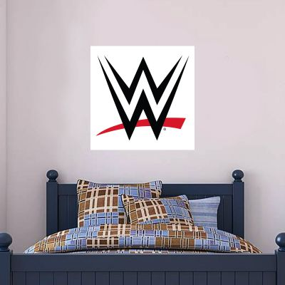 WWE - Logo (White) Wall Sticker