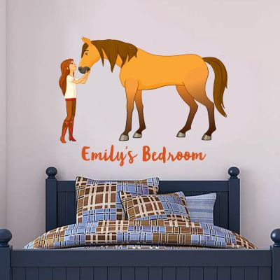 Spirit Riding Free - Lucky & Spirit Personalised Wall Sticker