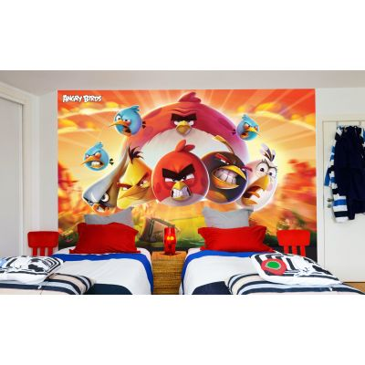 Angry Birds Full Wall Mural - Sunset Image