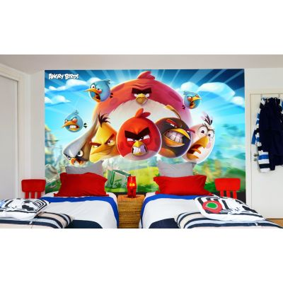 Angry Birds Full Wall Mural - Day Image