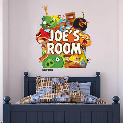 Angry Birds Exploding Personalised Name Wall Sticker