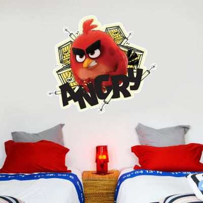 Official Angry Birds - Red Angry Decal Wall Sticker