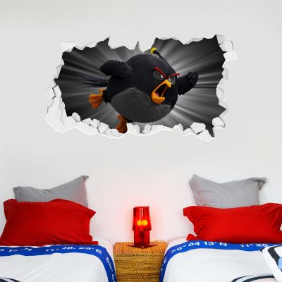 Official Angry Birds - Bomb Broken Wall Sticker