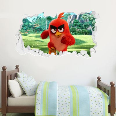 Official Angry Birds - Red Broken (Jungle) Wall Sticker