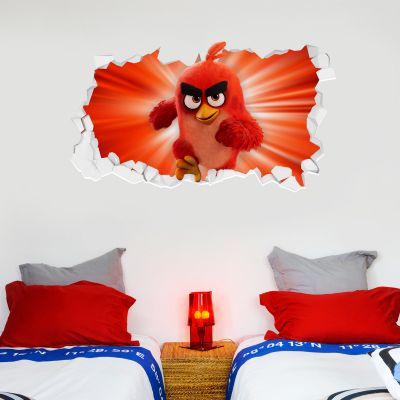 Official Angry Birds - Red Broken Wall Sticker