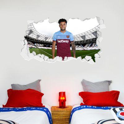 West Ham United Football Club - Felipe Anderson Smashed Wall Mural + Hammers Wall Sticker Set