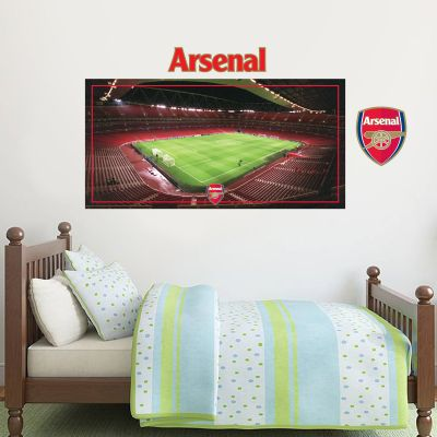 Arsenal Football Club - Empty Emirates Stadium View + Gunners Wall Sticker Set