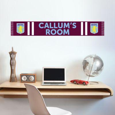 Aston Villa Football Club Bar Scarf Wall Sticker