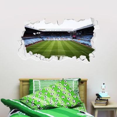 Aston Villa Football Club Broken Wall Stadium Wall Sticker