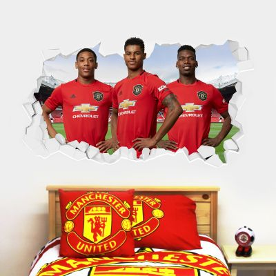 Manchester United F.C. - Attacking 3 Broken Wall Sticker