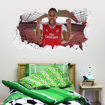 Arsenal Football Club - Pierre-Emerick Aubameyang Smashed + Gunners Wall Sticker Set
