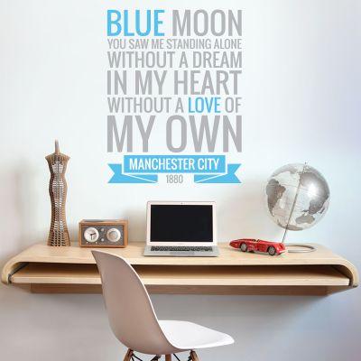 Manchester City Football Club - Blue Moon Song Wall Sticker