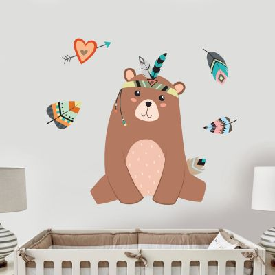 Native Wildlife - Bear Wall Sticker Set