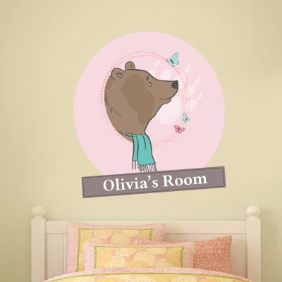 Bear Hunt Personalised Paw Wall Sticker