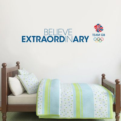 Official Team GB Logo and Believe in Extraordinary quote Wall Sticker
