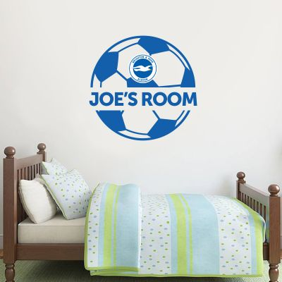 Brighton and Hove Albion FC Ball and Personalised Name Wall Sticker