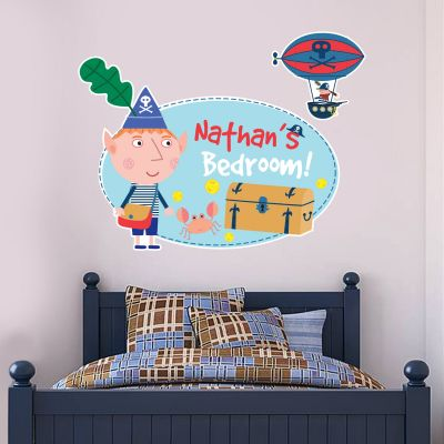 Ben & Holly's Little Kingdom: Pirate Ben Personalised Wall Sticker