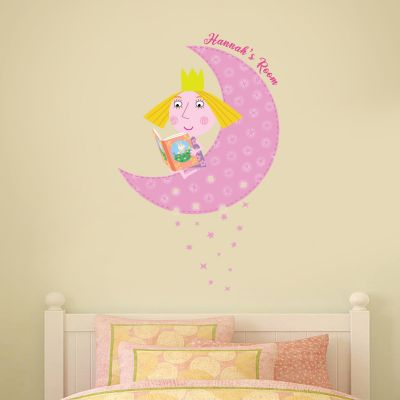 Ben & Holly's Little Kingdom: Holly Personalised Moon Wall Sticker