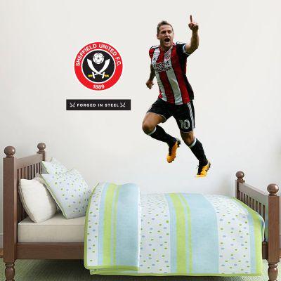 Sheffield United F.C. - Billy Sharp Player Decal + Blades Wall Sticker Set