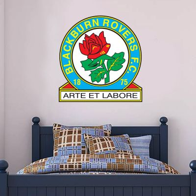 Blackburn Rovers F.C. - Crest + Riversiders Wall Sticker Set
