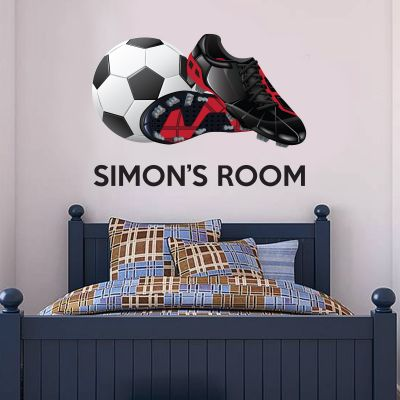 Football Boots & Name Wall Sticker
