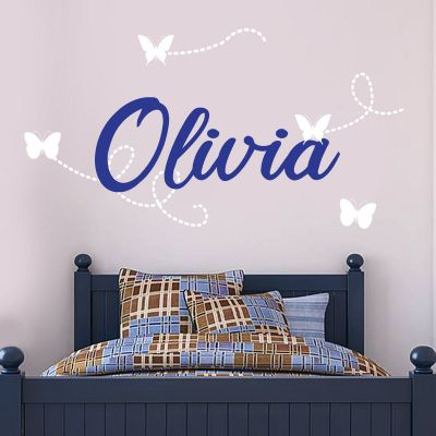 Butterfly Trails Personalised Wall Sticker