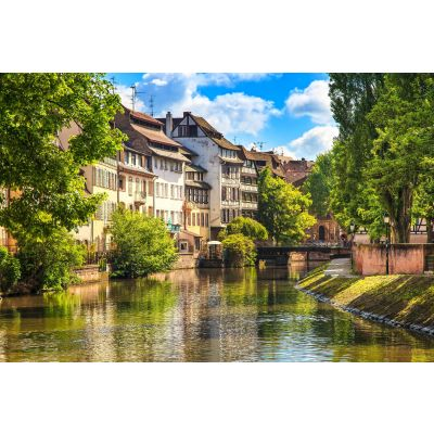 Canal in Alsace, France Wall Mural