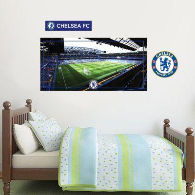 Chelsea Football Club - Stamford Bridge Stadium Wall Mural + Blues Wall Sticker Set