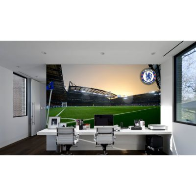 Chelsea FC - Stamford Bridge Stadium Full Wall Mural - Inside Night Time
