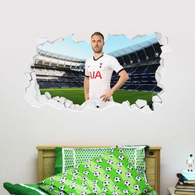 Tottenham Hotspur Football Club - Christian Eriksen Broken Wall Sticker + Spurs Wall Sticker Set