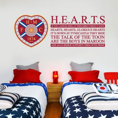Hearts Football Club - Crest & Song + Wall Sticker Set
