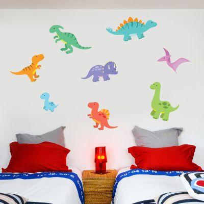 Dinosaur Wall Stickers Baby Dino Set