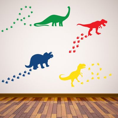 Dinosaur Wall Sticker Dino Footprints Set