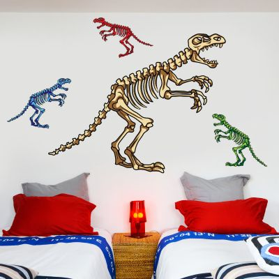 Dinosaur Wall Sticker Dino Skeleton