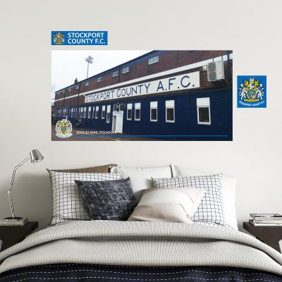 Stockport County F.C. - Edgeley Park Stadium - Hatters Wall Sticker Set