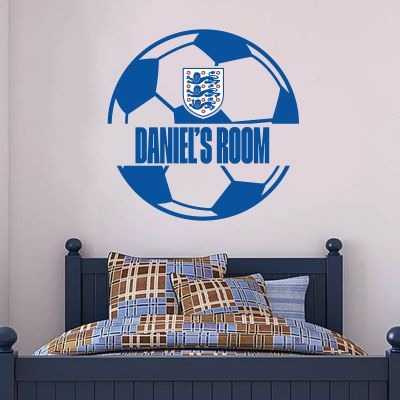 England Ball and Personalised Name Wall Sticker