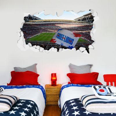 England Wembley Stadium Broken Wall Sticker (Flag)