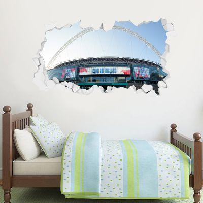 England Wembley Stadium Broken Wall Sticker (Outside)