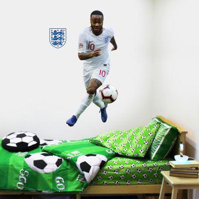 Raheem Sterling Player Wall Sticker+ Bonus England Sticker Set