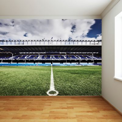 Everton FC - Goodison Park Stadium Full Wall Mural Main Stand Centre Circle Image
