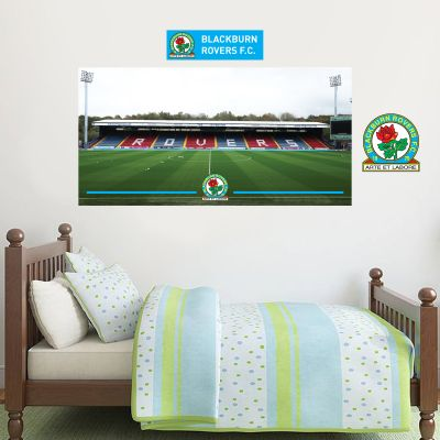 Blackburn Rovers F.C. - Ewood Park Stadium + Riversiders Wall Sticker Set