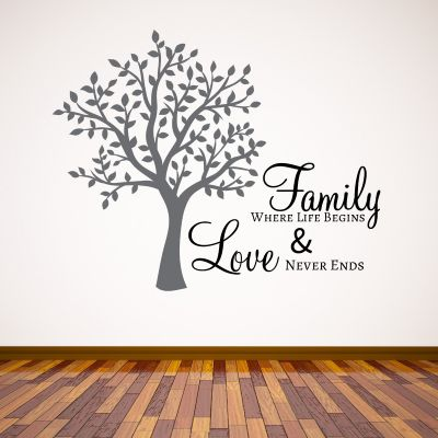 Family Tree Quote Wall Sticker