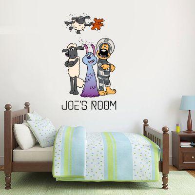 Shaun The Sheep: Farmageddon Lu-La And Friends Personalised Wall Sticker