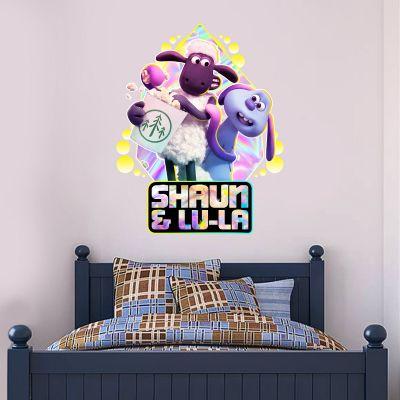 Shaun The Sheep: Farmageddon Shaun And Lu-La Popcorn Wall Sticker