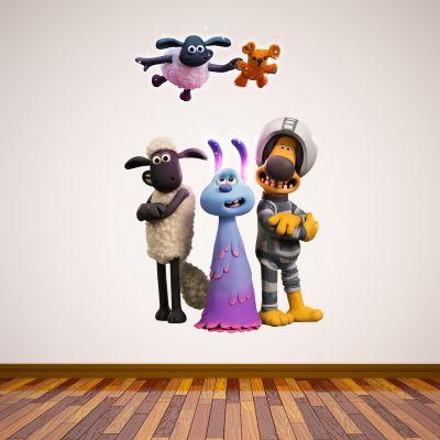 Shaun The Sheep: Farmageddon Lu-La And Friends Wall Sticker