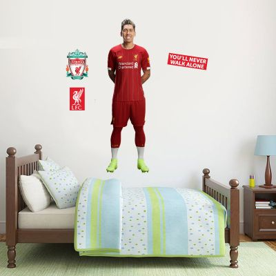 Liverpool FC - Roberto Firmino Player Decal + LFC Wall Sticker Set