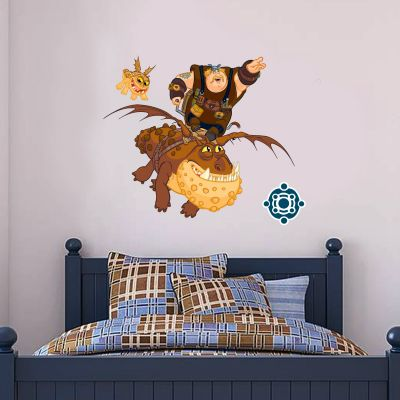 How To Train Your Dragon - Fishlegs & Meatlug Wall Sticker Set