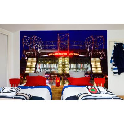 Manchester United Old Trafford Stadium Full Wall Mural - Forecourt View