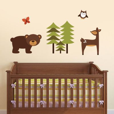 Forest Animals Wall Sticker Set